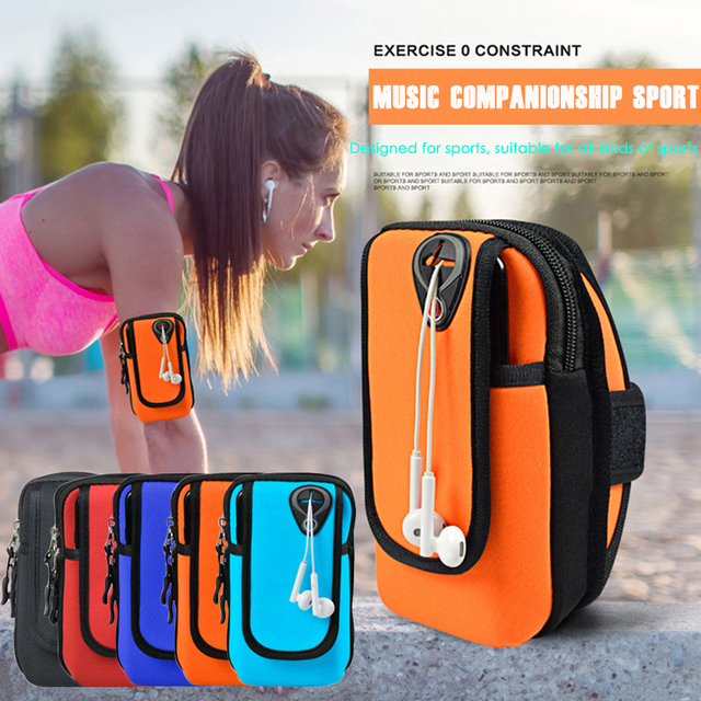 Running Arm Bag For Phone Armband Case Mobile phone Holder Sport Outdoor Jogging Workout Arm Pouch With Hole For Headset D35