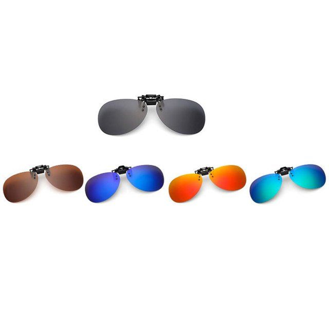 Cool Polarized Lens Clip On Flip Up UV400 Night Viewing Tourism Game Sunglasses