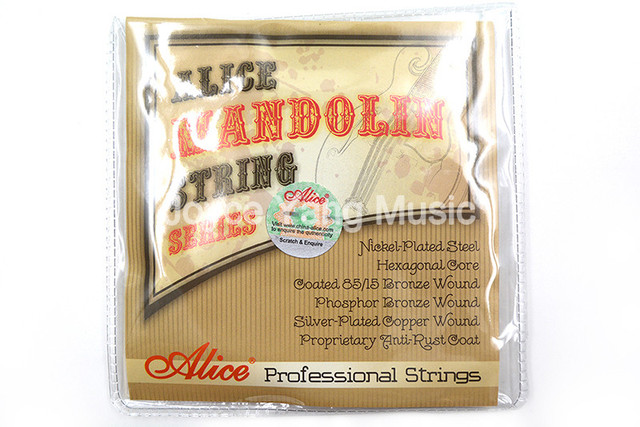 Alice AM07 Mandolin Strings Nickle-Plated Steel&Phosphor Bronze Wound Strings 1st-4th 010-034 Free Shipping Wholesales