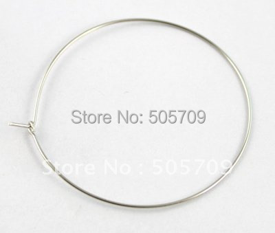1500pcs Wine Glass Charm Hoops Wires 44mm #20585