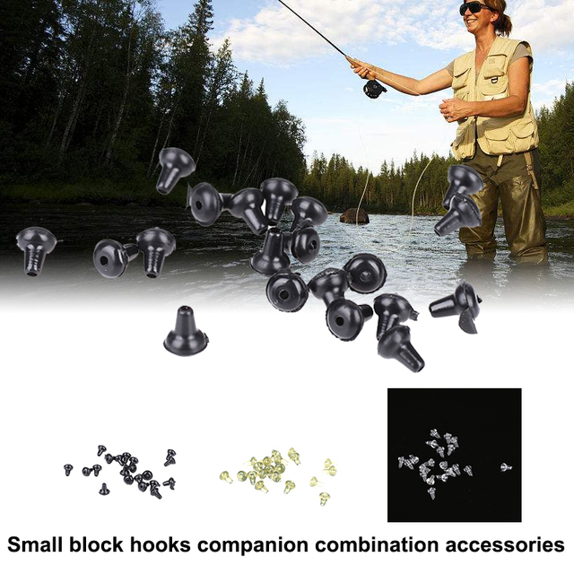 3color Practical Fishing Accessories Set Fishing Competition Fishing Accessories Fish Hook Hook Retaining Beads Durable