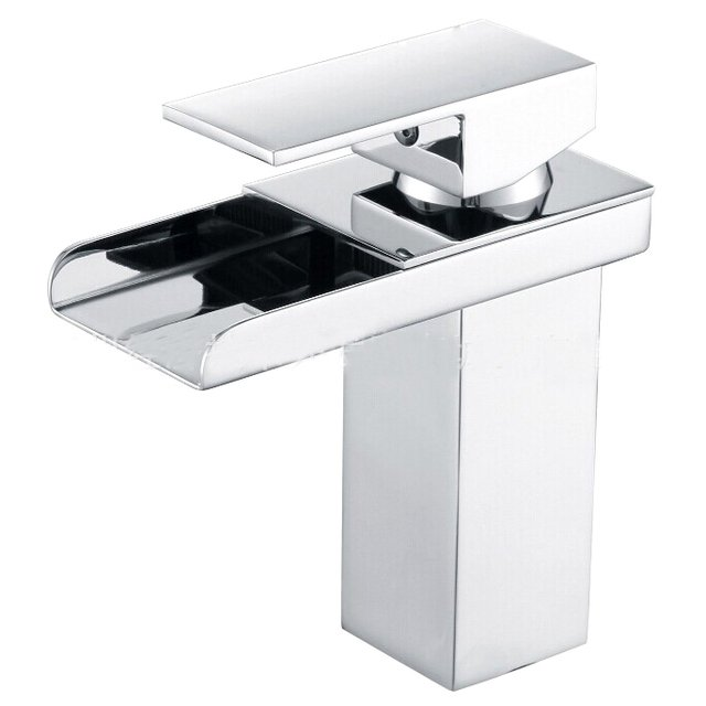 X8315B1 - Luxury Deck Mounted Chrome Finish Brass Material Hot and Cold Water Basin Tap