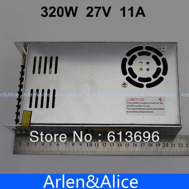 320W 27V 11A Single Output Switching power supply for LED Strip light AC to DC 110V 200V selected by switch