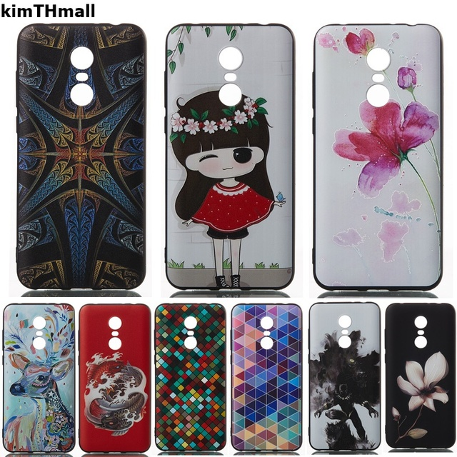 Case For Xiaomi Redmi 5 Back Cover funda 3D Relief Cute leather TPU Soft phone case coque For Xiaomi redmi 5 PLus case kimTHmall