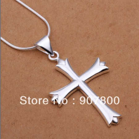 N290 factory price silver plated cross pendant necklace fashion classic jewelry wedding gift