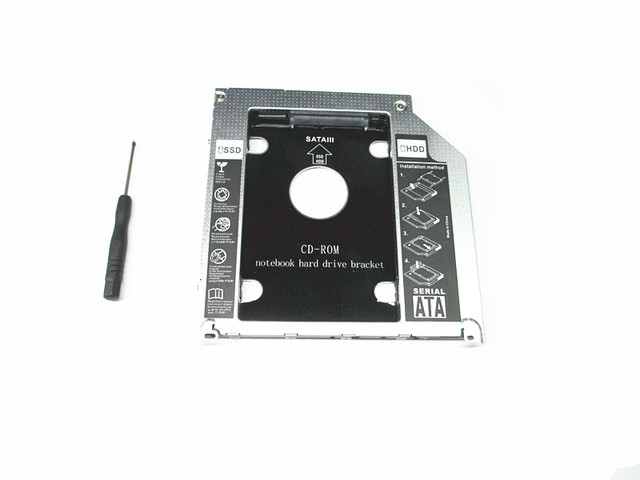 new style 2nd HDD SDD Hard Drive Caddy for Apple MacBook Pro high quality Fully aluminium with LED