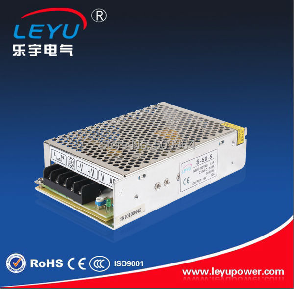 CE ROHS approved high quality led 50w power supply Leyu S-50-5 power output 5V 10A switching power supply