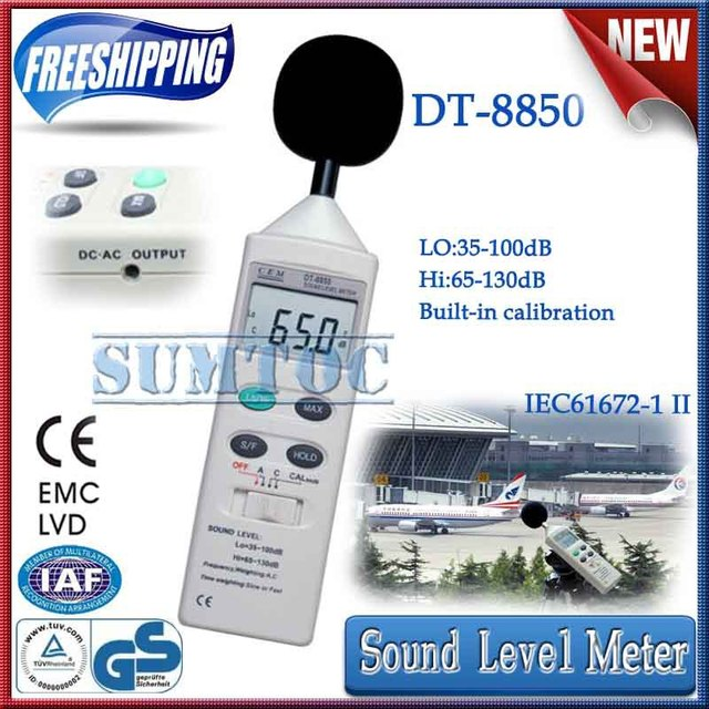 Free shipping! Sound Level Meter CEM DT-8850