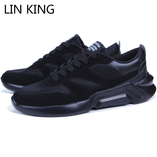 LIN KING Breathable Men Casual Shoes Shallow Lace Up Single Shoes Outdoor Sneakers Spring Autumn Anti Slip Footwear Flats Shoes