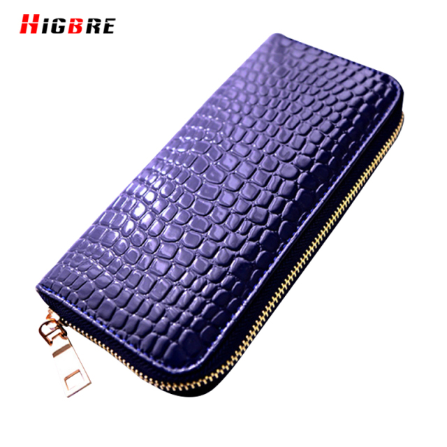 Fashion Black Red Patent Leather Wallet Women Long Zipper Money Clips Cards Purse Lady Clutch Wallets Luxury carteira feminina