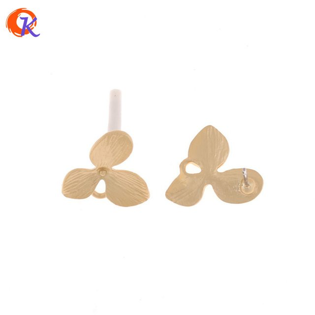 Cordial Design 50Pcs 16*18MM Jewelry Accessories/Earring Stud/Matte Gold/Flower Shape/Zinc Alloy/Hand Made/Earring Findings