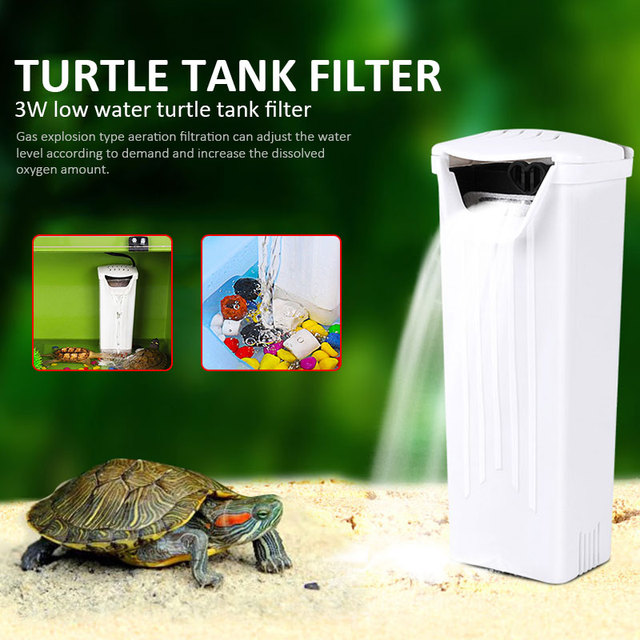 Waterfall Filter Aquarium Filter Turtle Filter Low Water Filter Portable Efficient Low Water Level Water