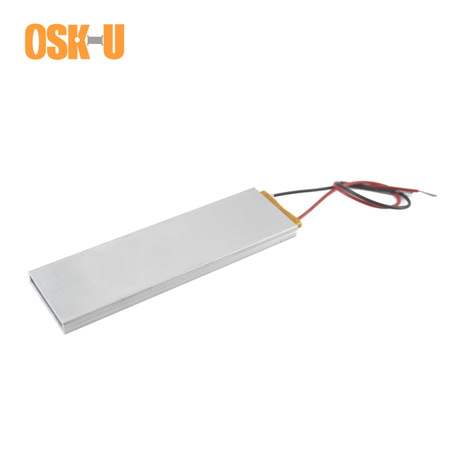 100x30x6mm Thermostatic PTC Heating Element 220V 65/70/270/120/100 Celsius Degree PTC Water Heater Plate Wattage 20/25/200/60W