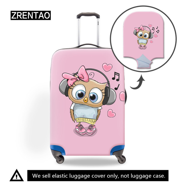 3D Cartoon Waterproof Luggage Protective Covers of 18 To 32 Inch Trap Bag Dustproof Protect Trolley Cases for Kids Trip Suitcase