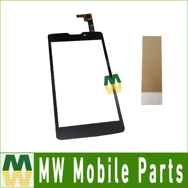 High Quality 1PC/ Lot For DNS S4507 Touch Screen Digitizer Replacement Part  Black White Color with Tape