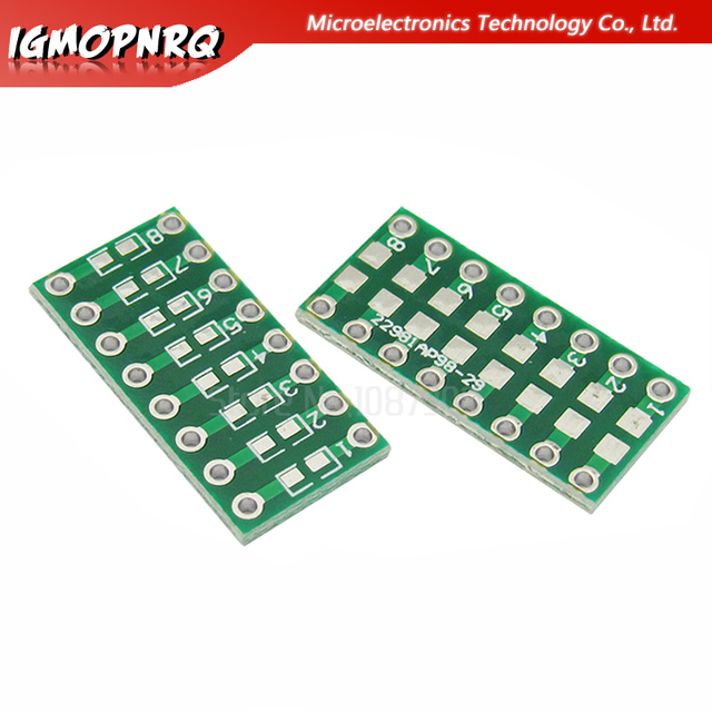 50pcs SMT DIP Adapter Converter 0805 0603 0402 Capacitor Resistor LED Pinboard FR4 PCB Board 2.54mm Pitch SMD SMT Turn To DIP