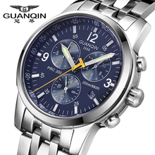 Luxury Brand GUANQIN Automatic Self-Wind Watches Men Business Mechanical Sapphire Mirror Waterproof Watches relogio masculino