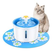 1.6L Pet Water Fountain Feeder Flower Automatic Cat Dog Electric Pet Smart Drinking Fountain LED Water Dispenser With Filter