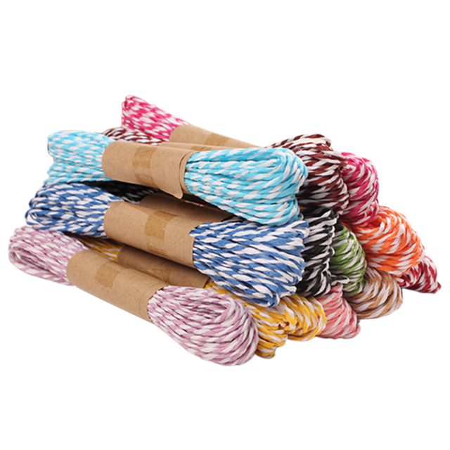 Gift Wrapping Twine Rope DIY Twisted Paper Raffia Craft Favor Thread Scrapbooks Invitation Flower Decoration 11 Colors