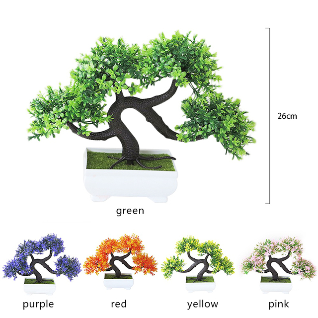 Fake Plant Simulation Flower Artificial Plants Bonsai Garden Hotel Garden Decor Fashion Beautiful Handmade Dragon Beard Tree