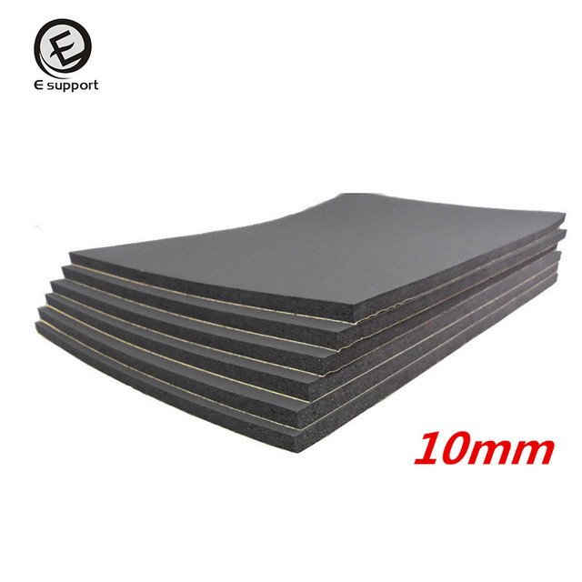 EE support 6 Sheets 10mm Car Van Sound Proofing Insulation Deadening Closed Cell Foam 30*50cm Auto Interior exterior Accessories