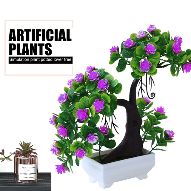 Artificial Plant Simulation Flower Simulated Potted Plants Fake Plant Wedding Beautiful Modern Home Decoration Sweetheart Tree