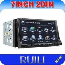 2012 New 7 inch 2 Din in dash portable Car DVD Player With GPS Navigation TV PIP Free Map