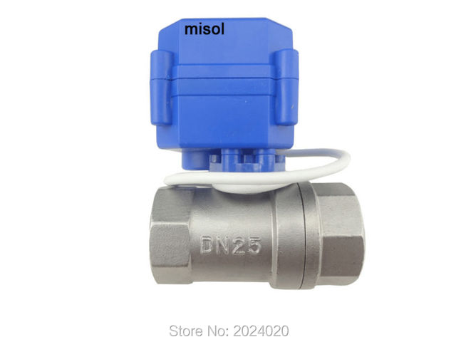 "2 way 12VDC CR01 motorized valve G1"" DN25 (reduce port), stainless steel, electrical valve"