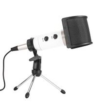 Dual Layer Recording Microphone Filter Mask Metal Mesh Shield Microphone Windscreen for Vocal Recording Youtube