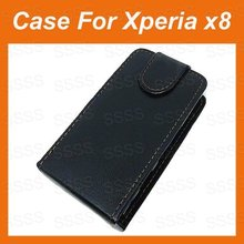 New PU Leather  X8 Case, For Sony Ericsson Xperia X8 X Cover With Free shipping