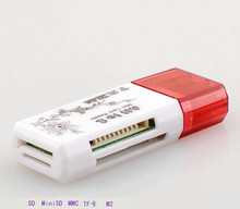 USB 2.0 All in One Multi Card Reader, TF/MS/M2/SD/SDHC SDXC Micro SD Memory Stick M2 поп