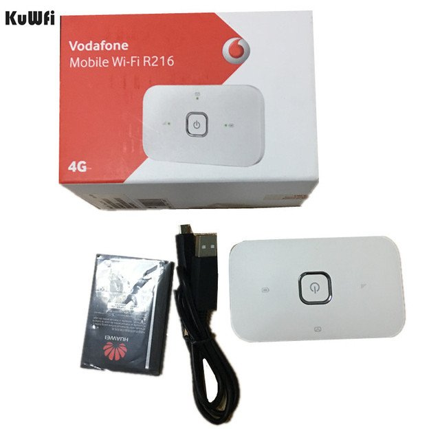 150Mbps Original Unlocked Huawei R216 Wifi Dongle 4G Wifi Router Mobile Hotspot Wireless Vodafone 4G LTE Fdd Band R216 Router