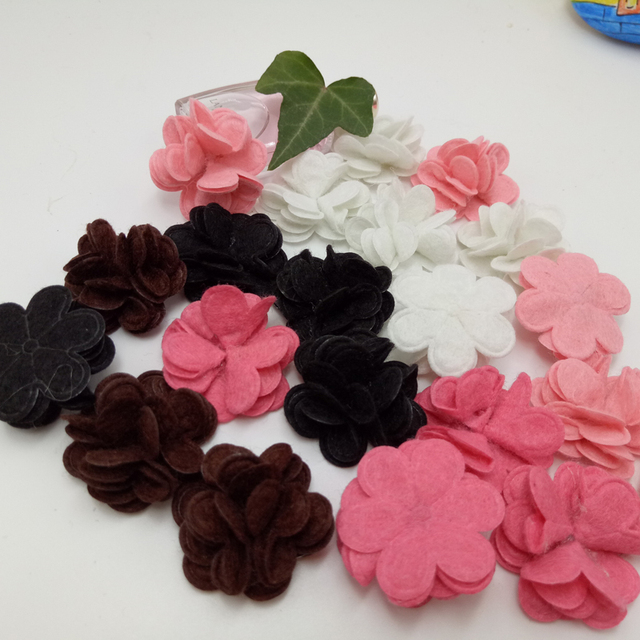 Mix color Brooch Handmade velvet suit pure plug multicolor lapel flower pin brooch for wedding