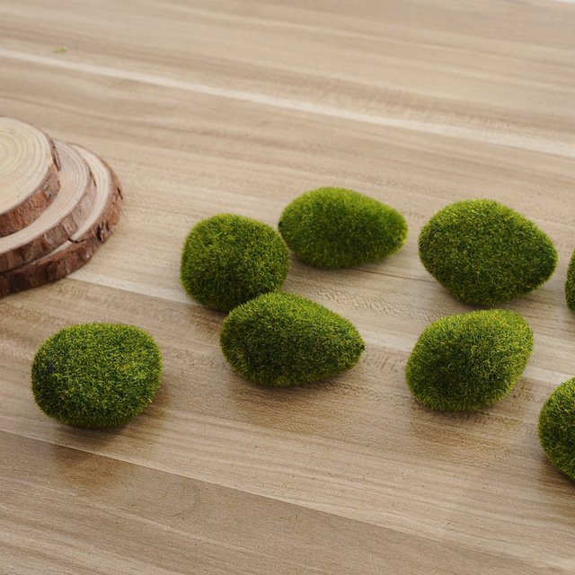 5Pcs Moss Balls Grass Turf Mini New Foam green Aquarium Plant Cladophora Underwater Fish Tank Ornament hot sale Fairy Garden