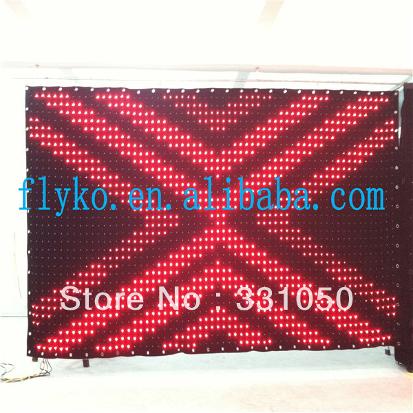 Stage decoration led video curtain with controller system