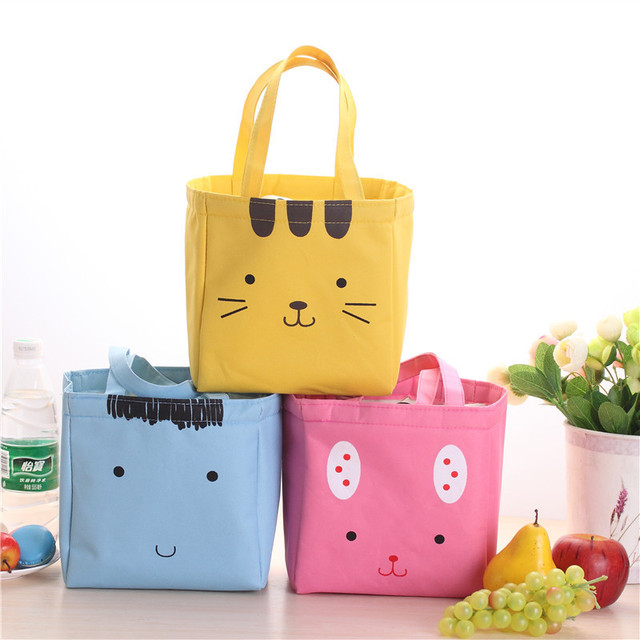 New Fresh Insulation Cold Bales Thermal Oxford Lunch Bag Waterproof Convenient Leisure Bag Cute Print Cuctas Picnic Tote Bag