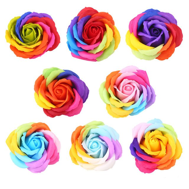 Soap Floral Gift Flower Petal Artificial Rose Valentine'S Day Party Decorating Elegant Decor Gift