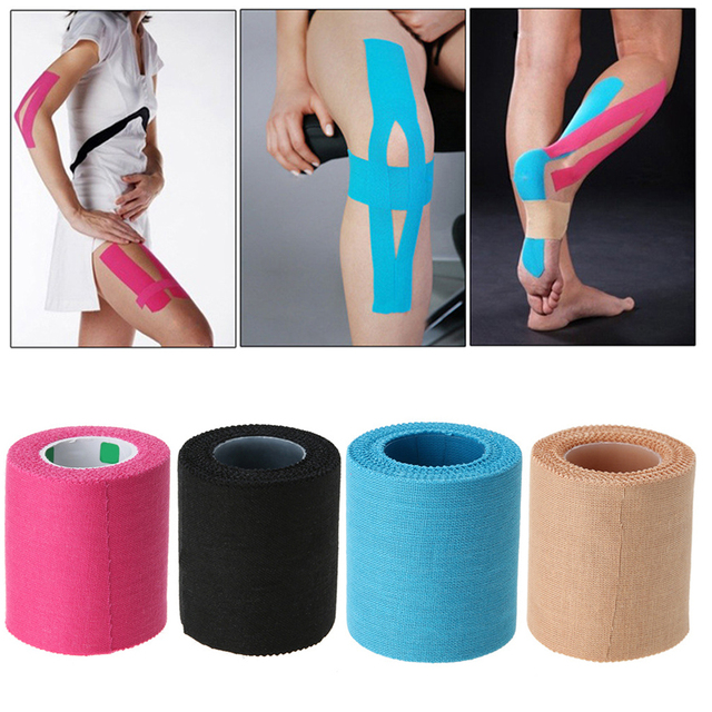1 Roll 5cm*5m Sport Serrated Tape Kinesiology Cotton Elastic Bandage Strain Injury Muscle Sticker Outdoor First Aid Supplies