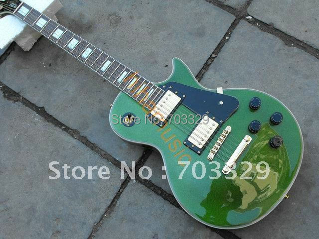 new solid wood green OEM custom guitar flame free shipping mahogany body manufacture high quality broad spectrum diverse musical