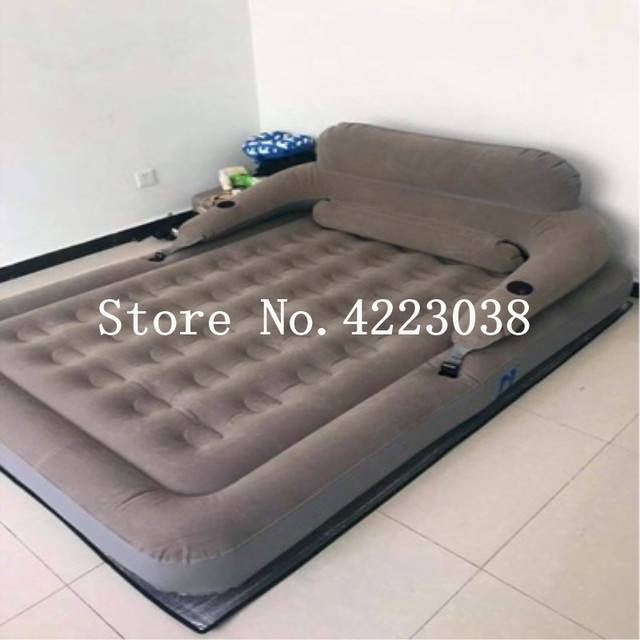 Free Shipping 183*203*22cm Air Mattress Back Mattress Home Bedroom Air Bed Beach Mat Inflatable Mattress With Electric Pump
