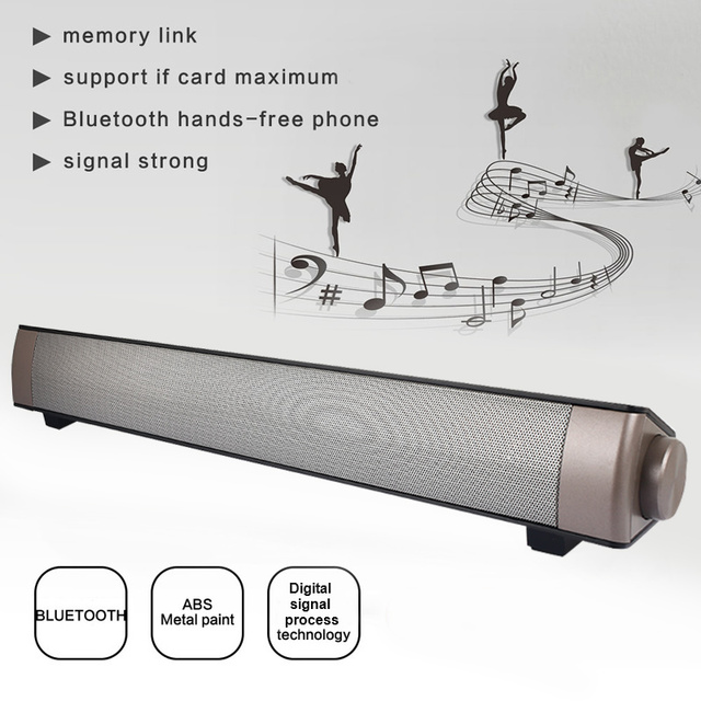 Bluetooth4.0+EDR Bluetooth Speaker Soundbar TF Mp3 Player Mobile Phone Subwoofer Portable Wall Mounted