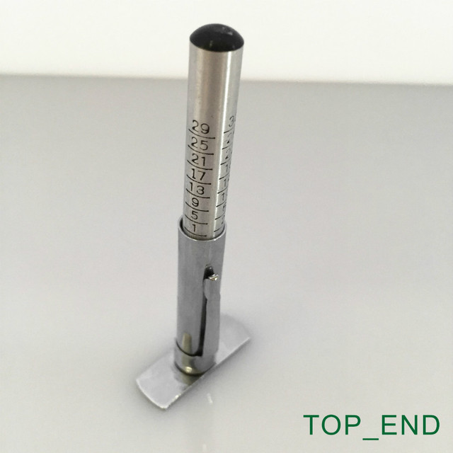 Free Shipping,1pc,Pencil Style Tire Tread Depth Gauge,Stainless Steel Slide,0-32 (32NDS)