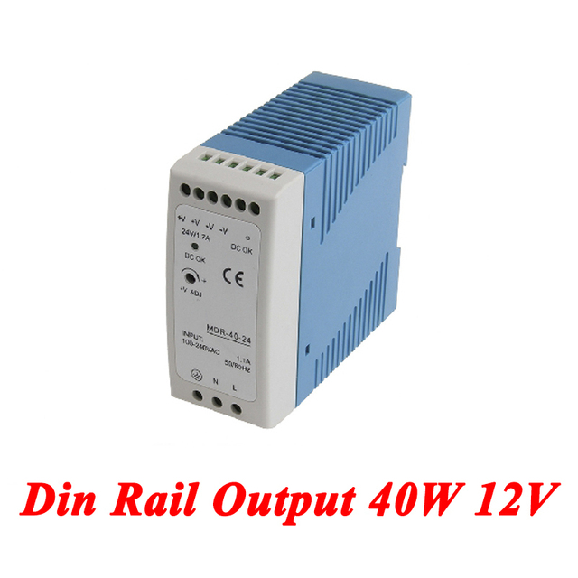 MDR-40 Din Rail Power Supply 40W 12V 3.33A,Switching Power Supply AC 110v/220v Transformer To DC 12v,ac dc converter