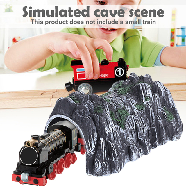 Sand Table Model Simulation Tunnel Plastic Multicolor Kids Game Collection Building Blocks Simulation Cave Train Railway Diy