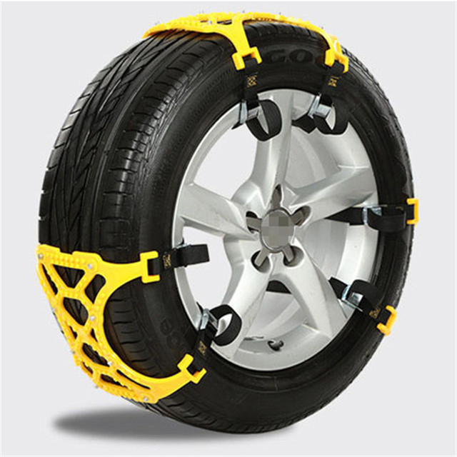 ToHuu 1 PCS Car Anti-skid Chain Dual Buckles Snow Chains Thickened Pulley Chain Winter Car Tyre Roadway Safety Tire Chains