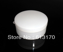 Cream Jar Ointment Cosmetic Packing Container Butter Case Plastic 100pcs 20g 20ml White Empty Free Shipping Wholesale
