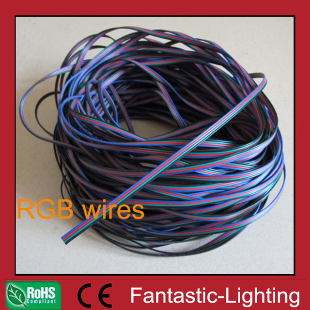LED RGB Cable wire 5m 8m 10m 20m 30m 50m RGB cable 4 wire cable AWG22 electrical wire cable tinned copper wire