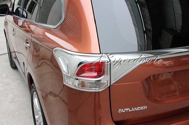 Free Shipping Car Styling Chromed Tail Rear Light Cover Trim For Mitsubishi Outlander 2013-2015