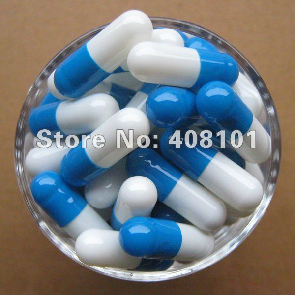 (10,000pcs/lot) best sell joined 4# blue/white capsule,hard capsule,empty capsule,gelatine capsule