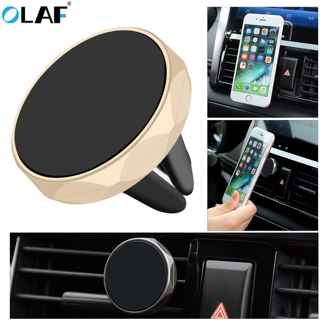OLAF Car Phone Holder Magnetic Air Vent Mount Mobile Smartphone Stand Magnet Support Cell in Car GPS For iPhone XS Max Samsung